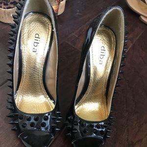 Heels black studded